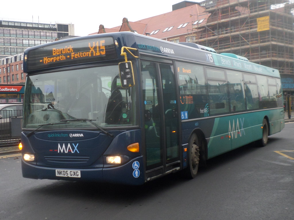 ... 4653 NK05 GXG Arriva North East MAX Scania Omnicity on the X15 to  Berwick | by