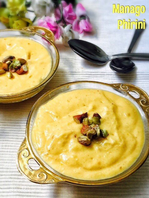 Mango Phirini Recipe for Toddlers and Kids