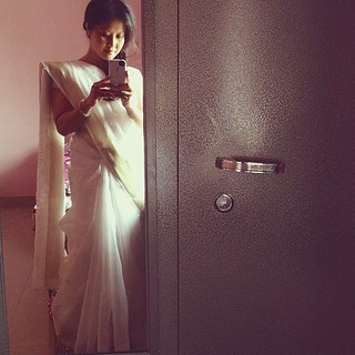 me in the traditional Indian #sari before teaching my first class to the seminary students :)  I've no idea the amount of work it took to wear these?!!! Thank goodness I have women here to dress me. One of the professors told me that a woman looks her mos | by sam_samantha