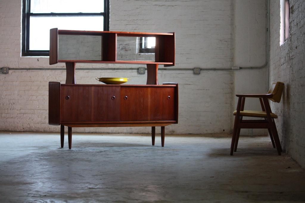 1960s Danish Credenza : Af s danish mid century teak sideboard credenza