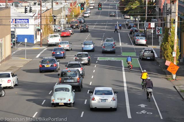 New bike lane on Hawthorne Bridge viaduct-11
