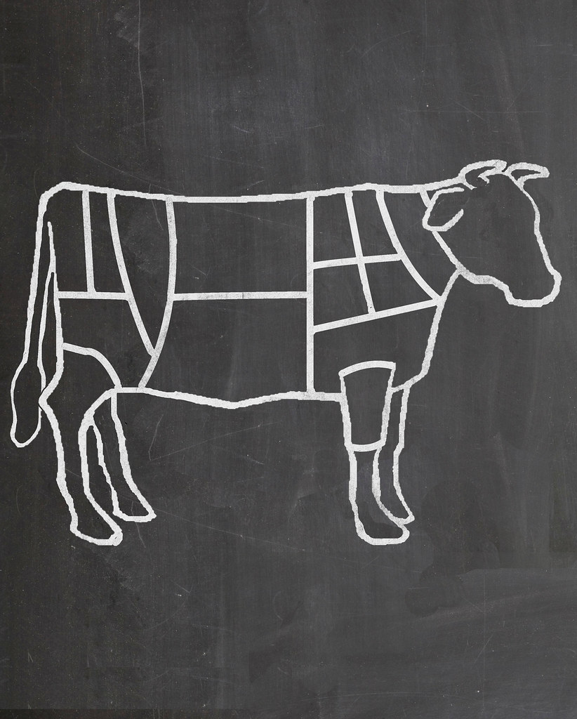 Chalkboard cow diagram of cuts of meat art by me 2 flickr chalkboard cow diagram of cuts of meat art by me 2 by ccuart Gallery