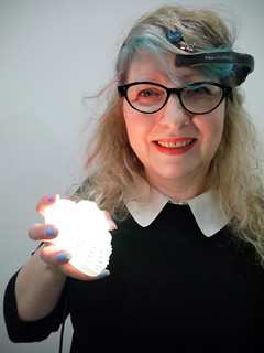 Rain & AnemoneStarHeart heart lit up with live EEG data | by Rain Rabbit