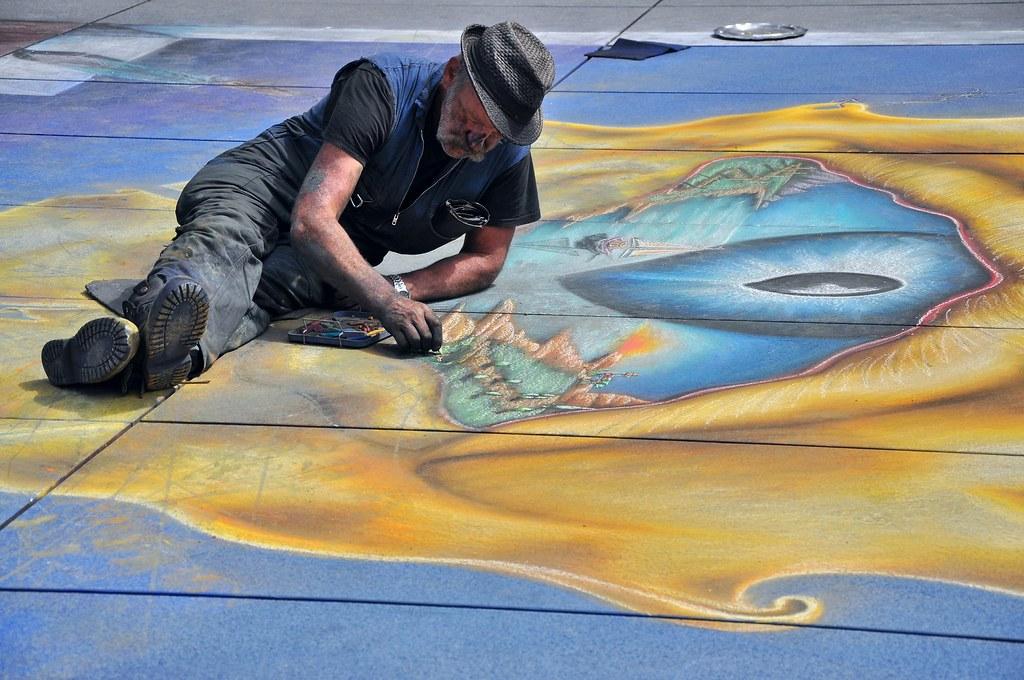 Chalk Artist, Paris ...