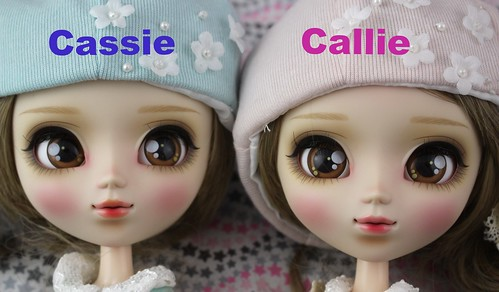 Cassie Versus Callie Face Up Comparison