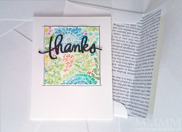 thanks floral watercolour resist