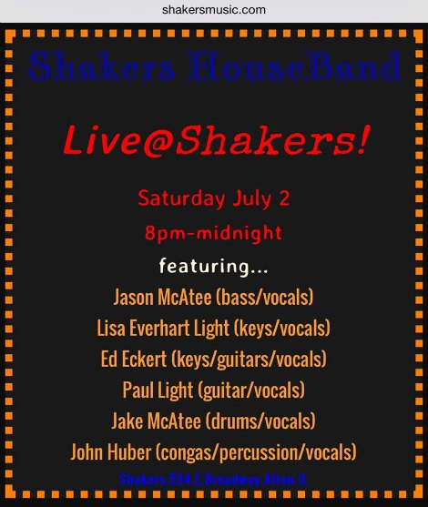 Shakers 7-2-16