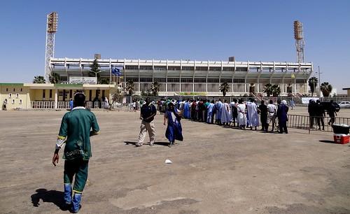 مباراة الودية الدولية بين الموريتانية والنيجير في الملعب الاولومبي في انواكشوط