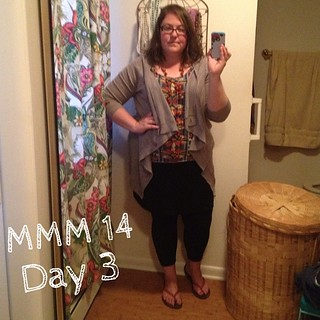 #mmmay14 #memademay day 3. Sorry for the rapid decline in photo quality! Me made leggings, skirt, and tank top. | by thegreenviolet