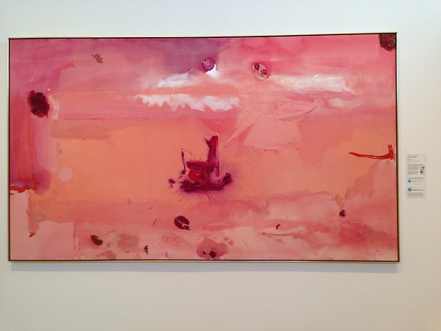 Helen Frankenthaler, Around the Clock with Red, Hunter Museum of Art, Chattanooga TN