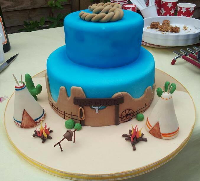 3rd Birthday Cake Cowboysindians Theme Georgina Hopwood Flickr