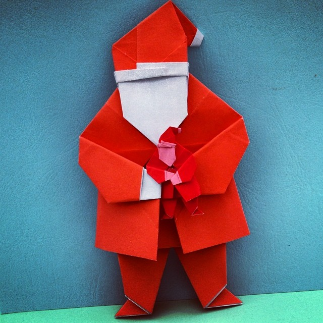 Big Santa Holding Tiny Santa Origami Santa Christmas Flickr