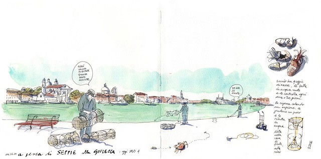 fishing in Canale della Giudecca