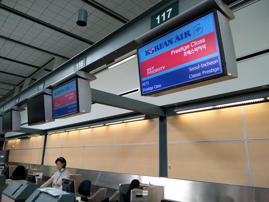 Korean Air Prestige Class check-in
