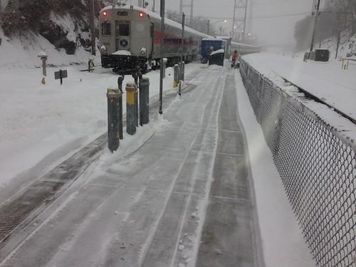 Exterior: Snow Removal Along Metro-North