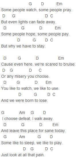 My Chemical Romance - Fake Your Death Chords | My Chemical R… | Flickr