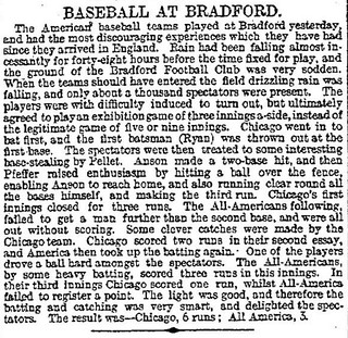 20th March 1899 - American baseball match played in Bradford | by Bradford Timeline