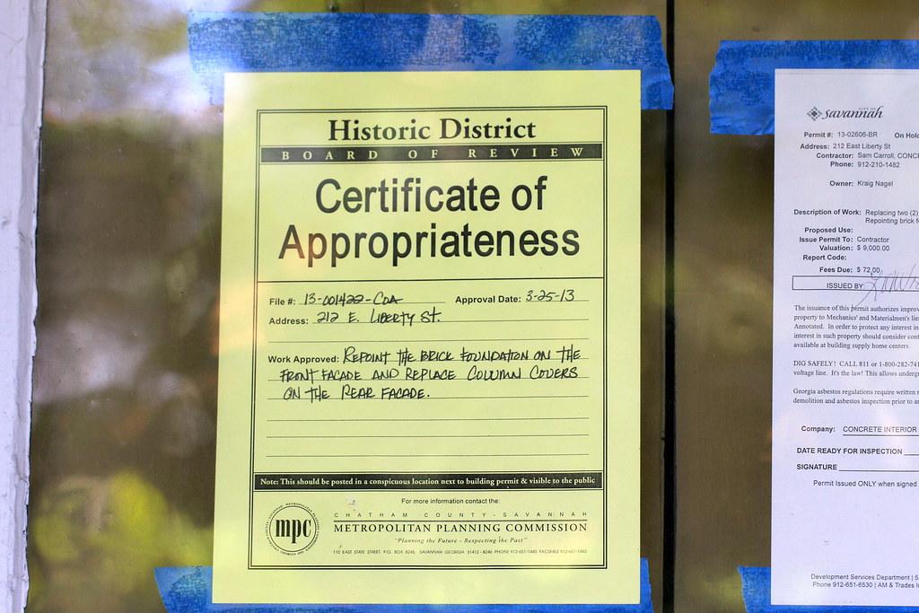 Certificate of Appropriateness, Savannah, GA | Daniel X. O\'Neil | Flickr