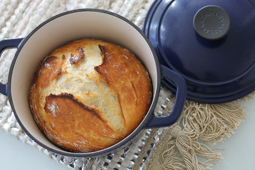 Easy DEasy No-Knead Dutch-Oven Crusty Bread Recipeutch-Oven CrustyEasy Dutch-Oven Crusty Bread Recipe Bread Recipe - with pumpkin butter | by Célèste of Fashion is Evolution