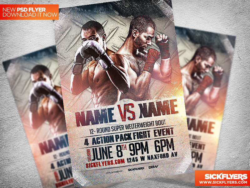 Boxing Flyer Template PSD | DOWNLOAD AT sickflyers.com/downl… | Flickr