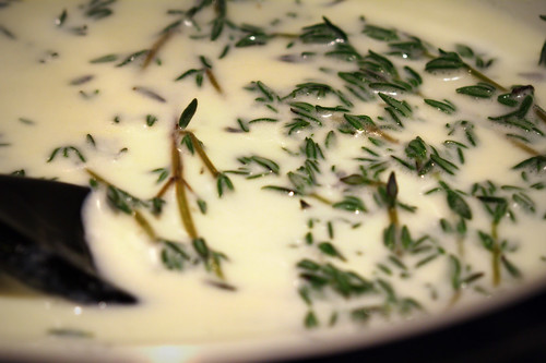 infusing thyme in cream | by MissionControl