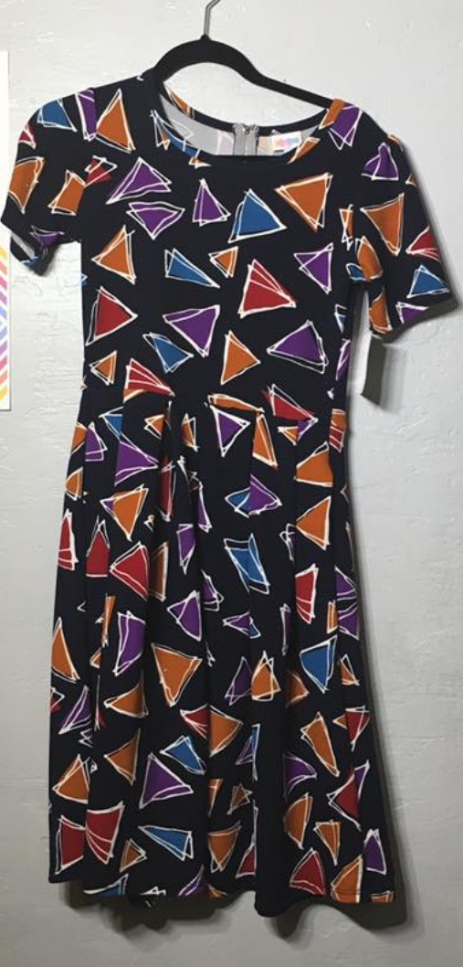 LulaRoe Rainbow Doritos Dress