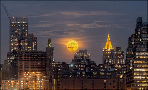 Super Moon 2013 Over NYC - From Weehawken NJ | by Bob Jagendorf