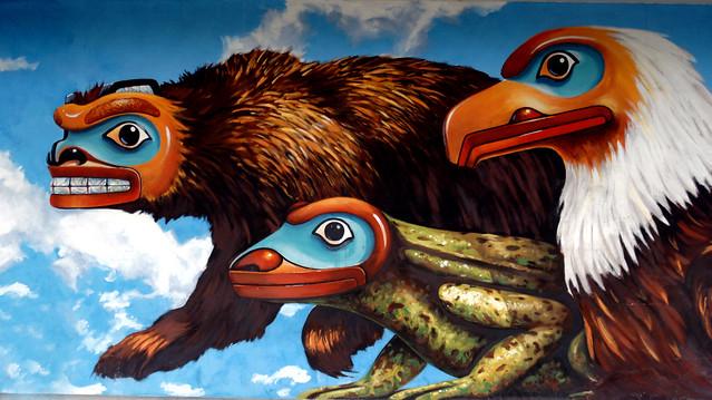 Mural Ketchikan Alaska.