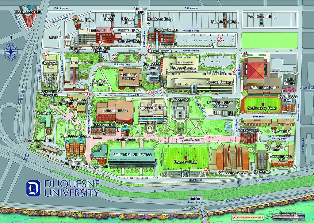 Duquesne University Campus Map   Duquesne University School of