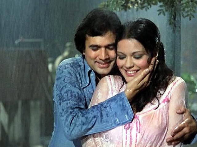 राजेश खन्ना और जीनत अमान पर बारिश में फिल्माया गया गीत
