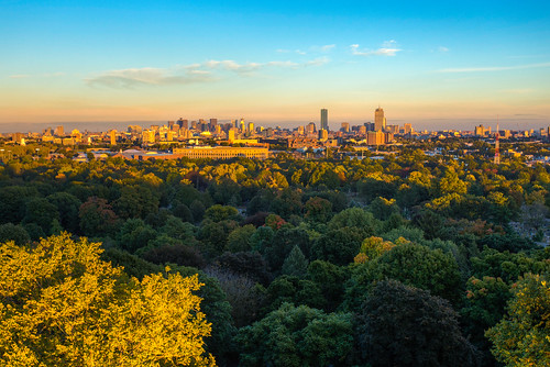 Boston skyline from Mount Auburn Cemetery | by rjshade