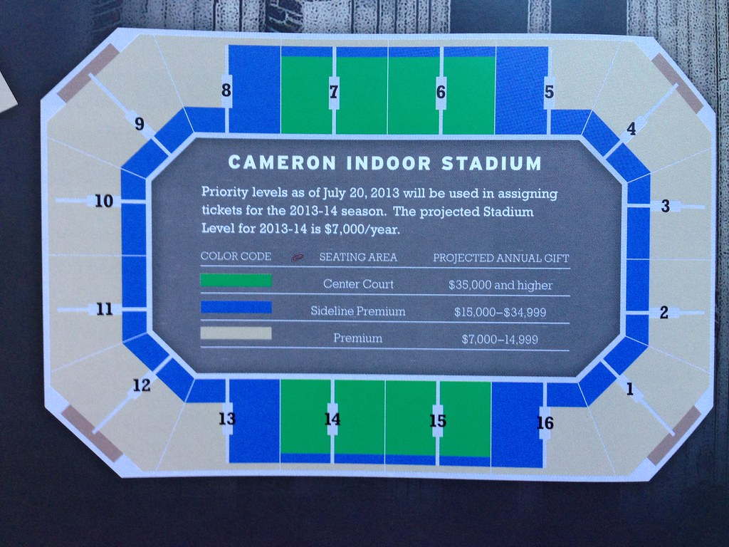 Cameron Indoor Stadium Seating Plan Cabinets Matttroy