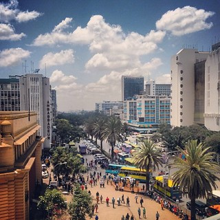 downtown Nairobi from the Africa Nazarene University urban campus #ANU #Kenya | by danboarder