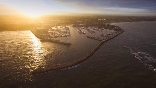 Sunrise over Hillary's marina, Perth, Western Australia