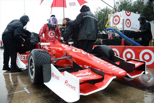 Scott Dixon climbs into his car prior to qualifications | by IndyCar Series