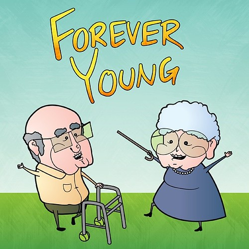 Forever Young! #Illustration #vector #draw #drawing #grand ...