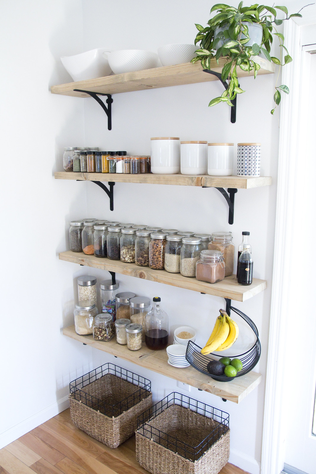 8 tips For Creating Successful Open Shelving and a pantry Jen