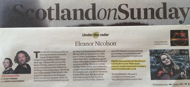 Scotland On Sunday, 5 June 2016, Eleanor Nicolson
