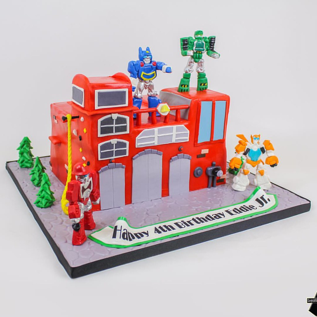 Transformers Rescue Bots Birthday Cake Asexquisitecakes Flickr