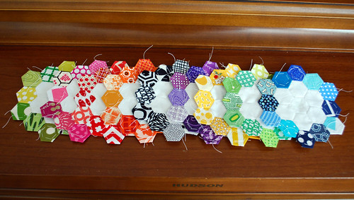 Hexies in a Row | by Hip To Piece Squares