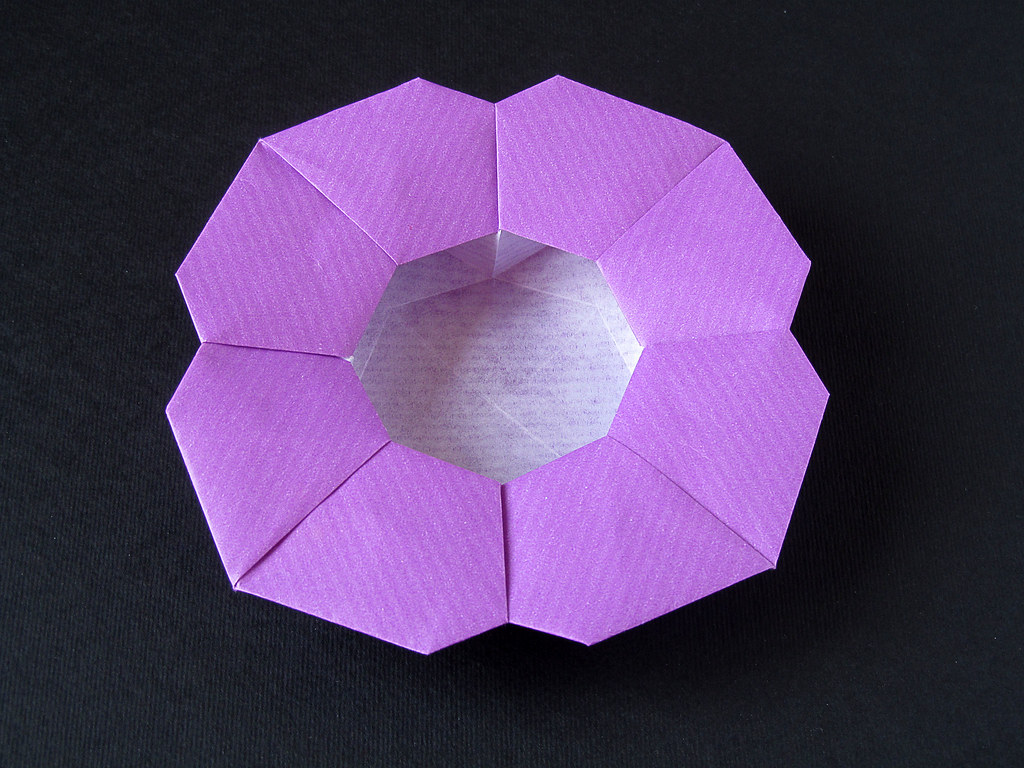 Scatola A Fiore Variante Flower Box Variant Origami Flickr
