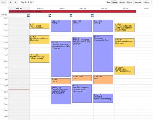 My Academic Weekly Schedule Raul Pacheco Vega Flickr