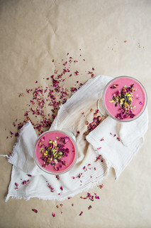 valentine smoothie: raspberry and rosewater | by harriet || harriet by hand