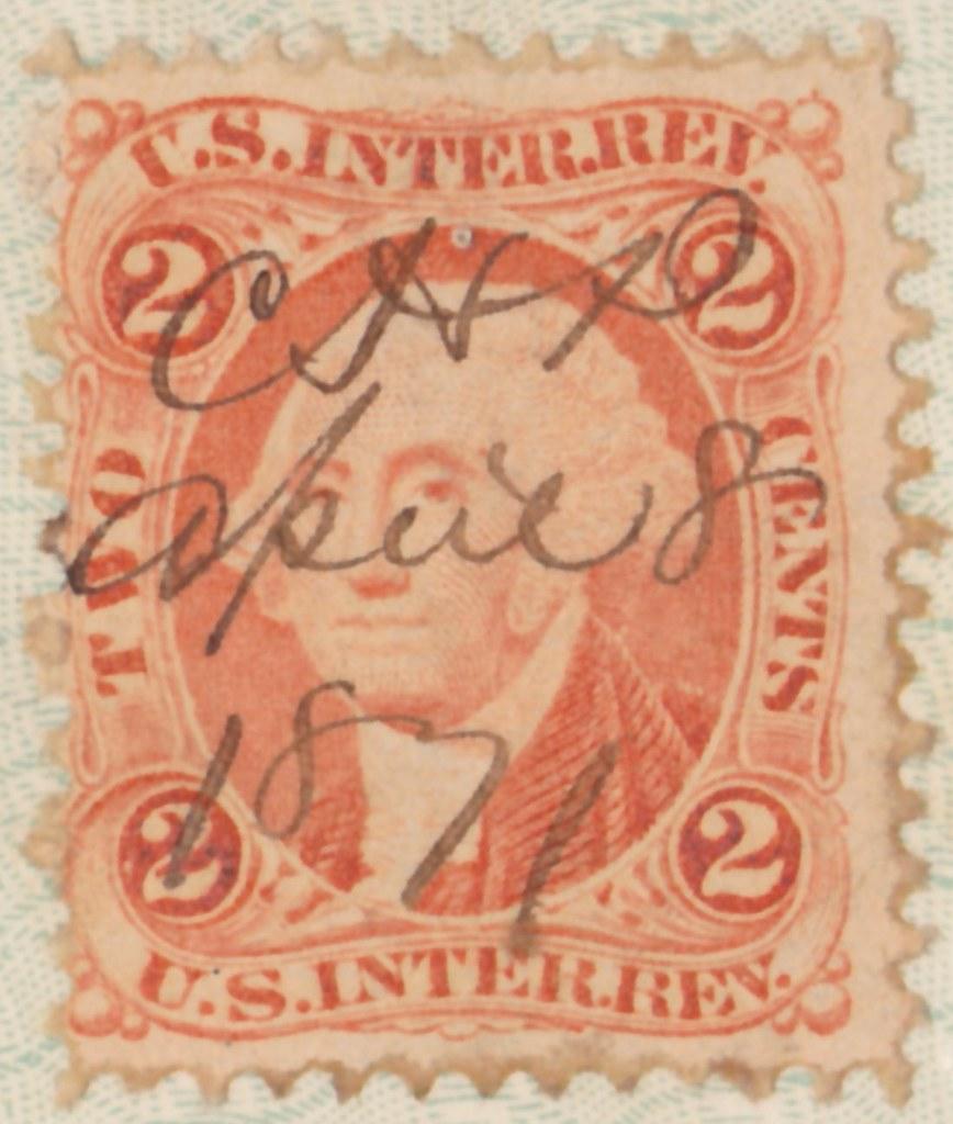 US Internal Revenue Stamp