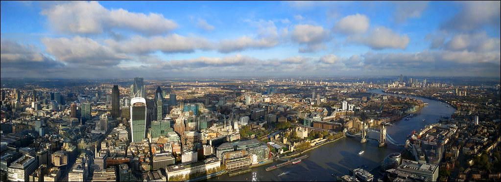 ... London panoramic view- [2904x1056] | by Katarina 2353