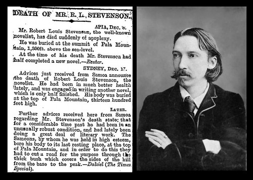 3rd December 1894 - Death of Robert Louis Stevenson | by Bradford Timeline