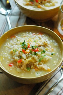 recipe for chicken and rice soup | by The Adventure Bite