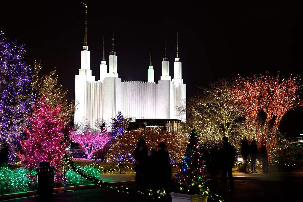 mormon temple and holiday lights by worldofarun - Christmas Lights Maryland