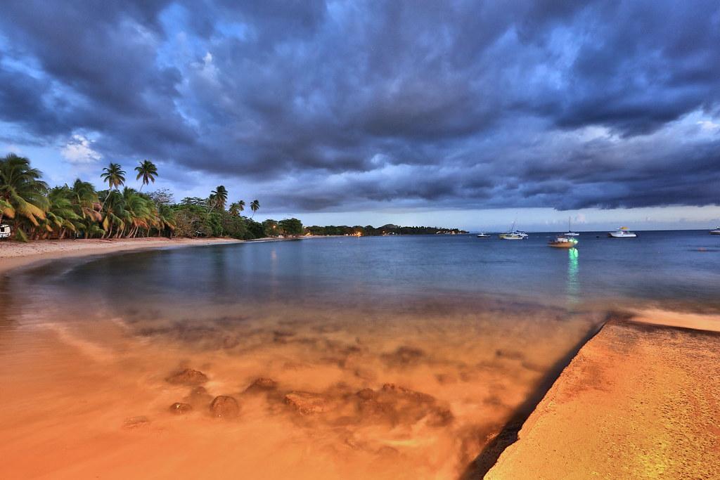 Evening beach shot, Rincon, Puerto Rico