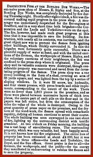 20th October 1859 - Fire at Bowling Dye Works, Bradford | by Bradford Timeline